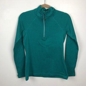 Eddie Bauer Quarter Zip Pullover Sz Small (Green)